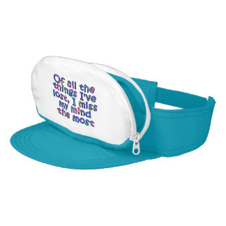 Of all the things I've lost, I miss my mind... Visor
