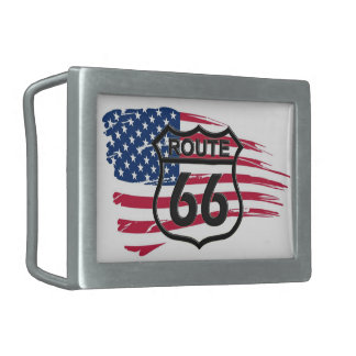 Of America route 66 Rectangular Belt Buckle