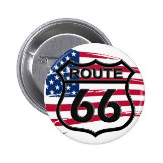 Of America route 66 Pinback Button
