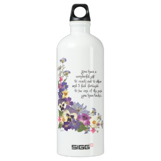 of appreciation aluminum water bottle
