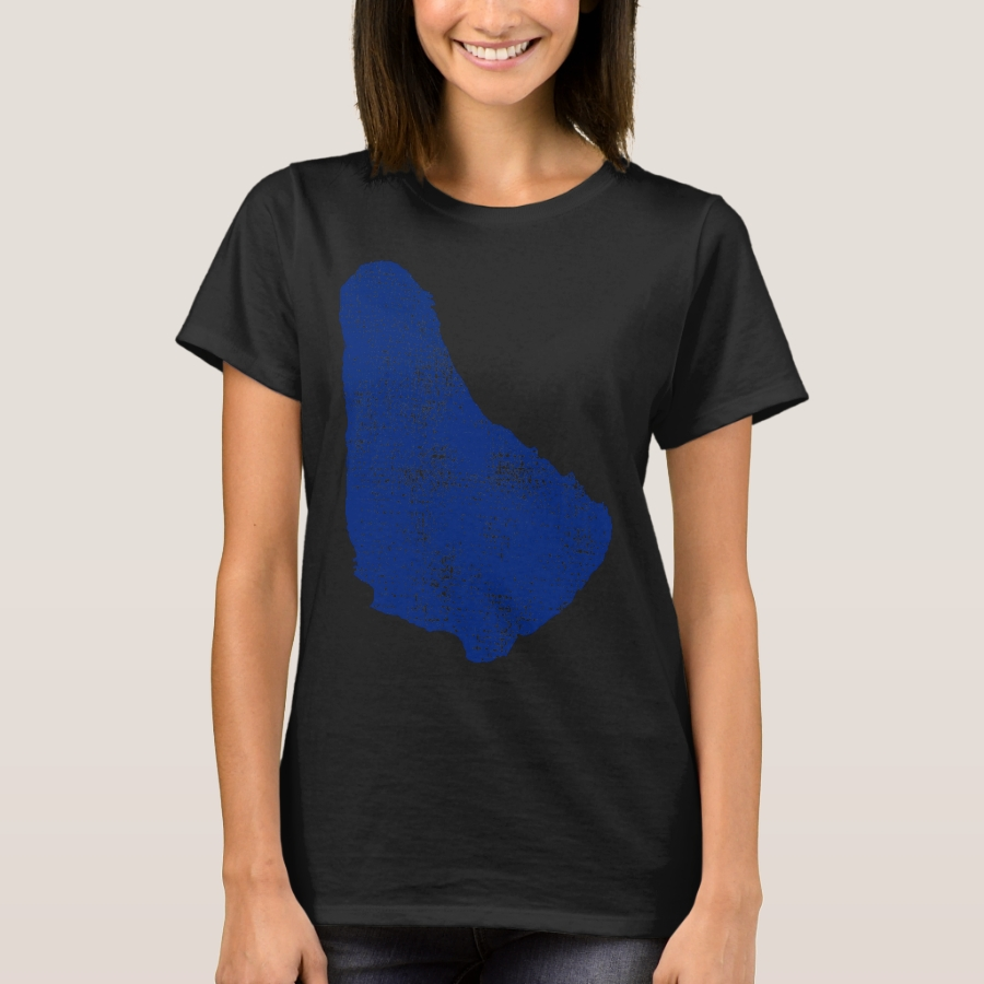 OF BARBADOS MAP T-Shirt - Best Selling Long-Sleeve Street Fashion Shirt Designs