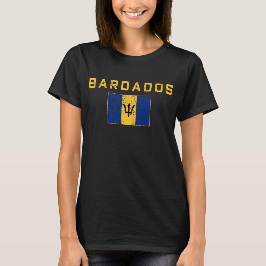 Of Barbados national flag T-Shirt - Best Selling Long-Sleeve Street Fashion Shirt Designs