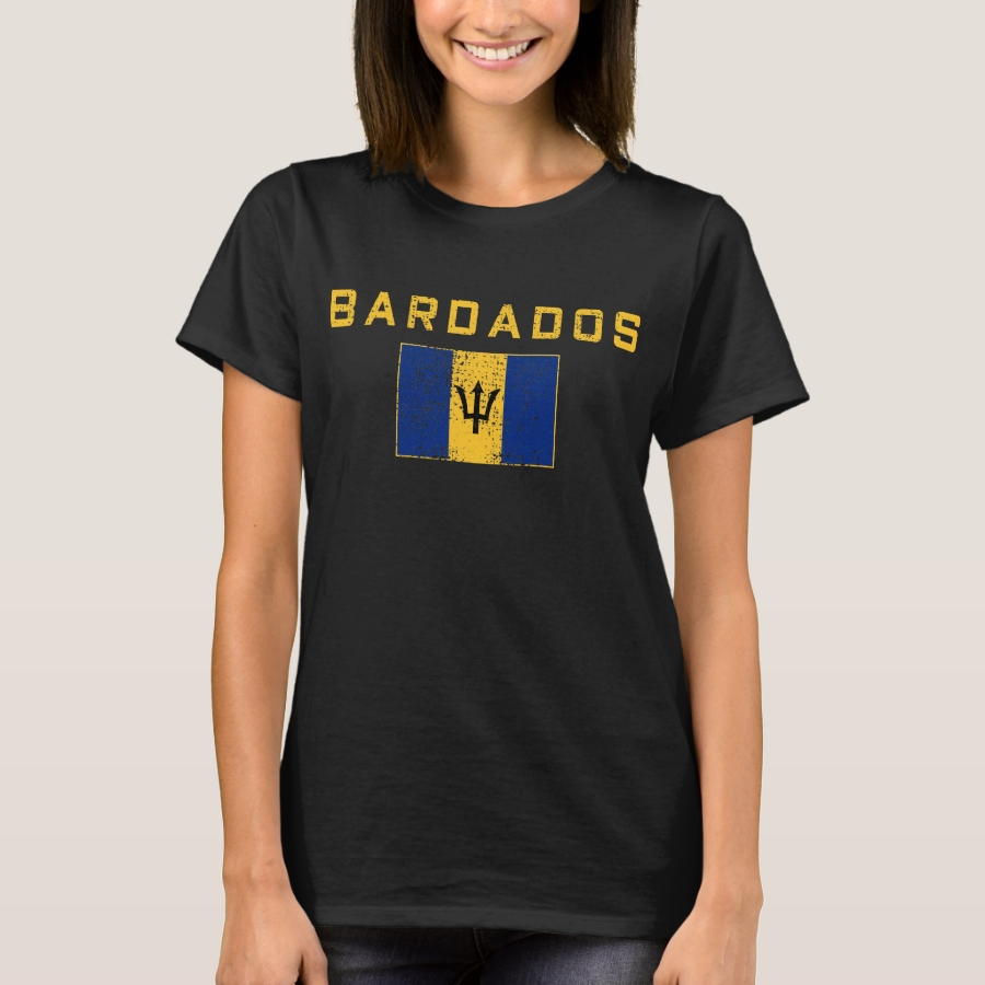 Of Barbados national flag T-Shirt - Best Selling Long-Sleeve Street Fashion Shirt Designs
