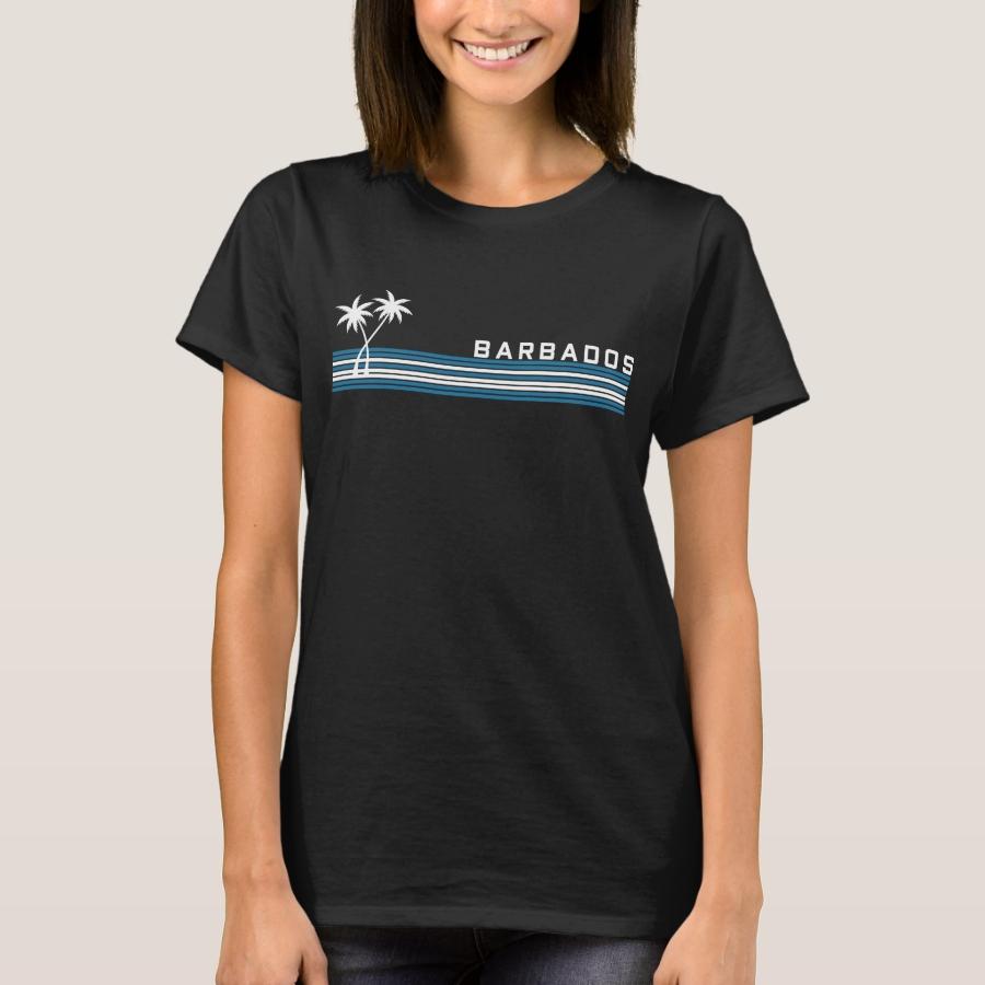 OF BARBADOS PALMS RETRO T-Shirt - Best Selling Long-Sleeve Street Fashion Shirt Designs