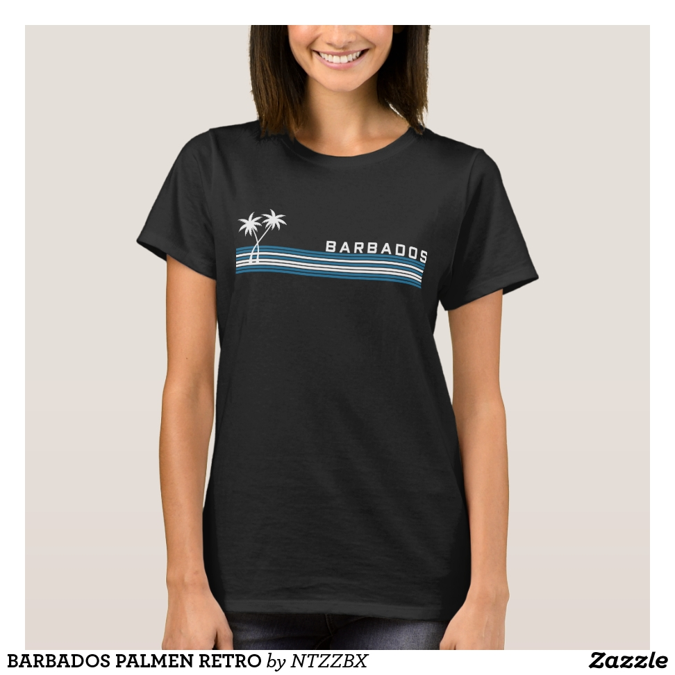 OF BARBADOS PALMS RETRO T-Shirt - Best Selling Long-Sleeve Street Fashion Shirt Designs