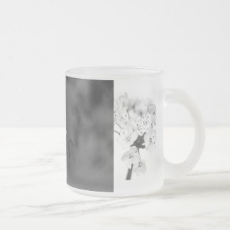Of Bee and Flowers Frosted Glass Coffee Mug