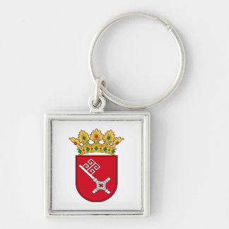 Of Bremen coats of arms Silver-Colored Square Keychain