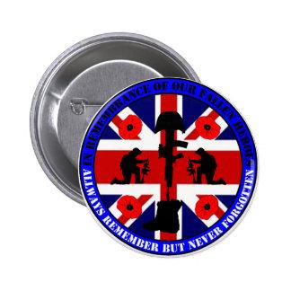Of caen en Remembrance our UK Heroes Pin Redondo De 2 Pulgadas