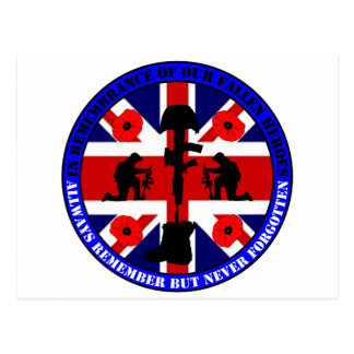 Of caen en Remembrance our UK Heroes Tarjeta Postal