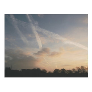 Of Clouds and Contrails Postcard