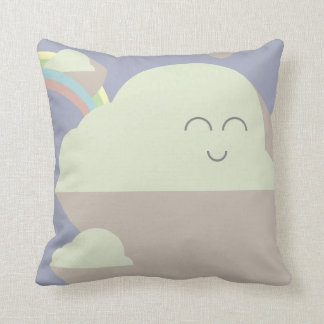 of clouds and rainbows throw pillow