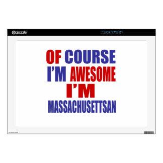 Of Course I Am Awesome I Am Massachusettsan Laptop Decal
