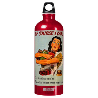 Of Course I Can! Vintage Retro World War II Aluminum Water Bottle