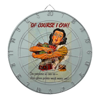 Of Course I Can! Vintage Retro World War II Dartboard