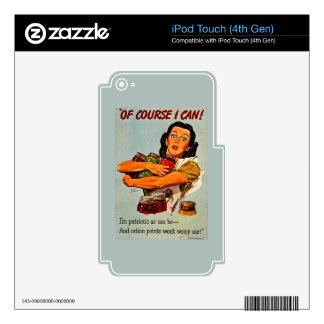 Of Course I Can! Vintage Retro World War II Skin For iPod Touch 4G