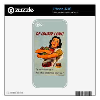 Of Course I Can! Vintage Retro World War II Decal For The iPhone 4S