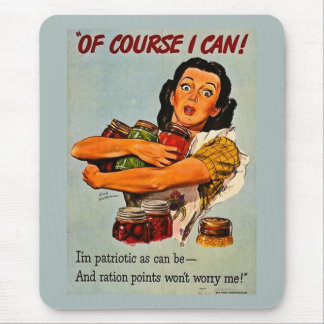 Of Course I Can! Vintage World War II Retro Mouse Pad