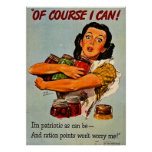 Of Course I Can! Vintage WWII Propaganda Print