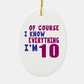 Of Course I Know Everything I Am 10 Ceramic Ornament