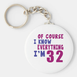 Of Course I Know Everything I Am 32 Keychain