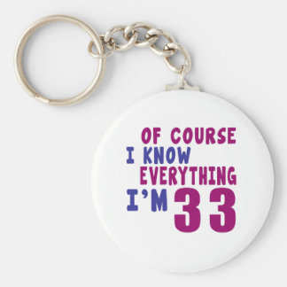 Of Course I Know Everything I Am 33 Keychain