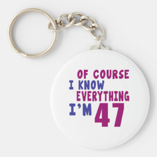 Of Course I Know Everything I Am 47 Keychain