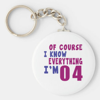 Of Course I Know Everything I Am 4 Keychain