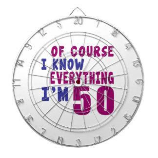 Of Course I Know Everything I Am 50 Dartboard