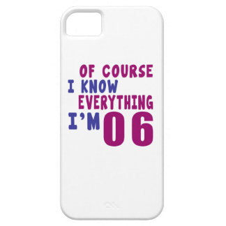 Of Course I Know Everything I Am 6 iPhone SE/5/5s Case