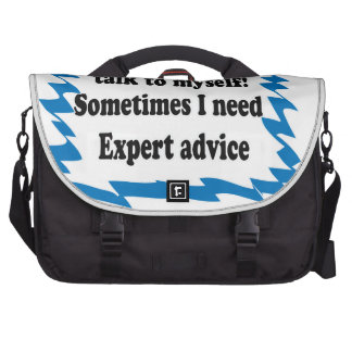 Of Course I Talk To Myself Laptop Bags