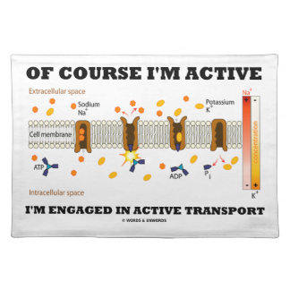 Of Course I'm Active Engaged In Active Transport Placemat