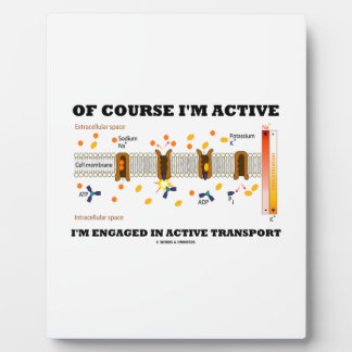 Of Course I'm Active Engaged In Active Transport Plaque