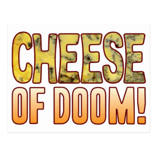 Of Doom Blue Cheese Postcard