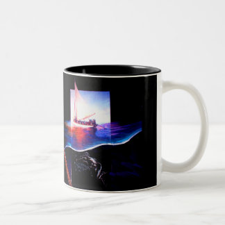 Of Dreams and Sharks Two-Tone Coffee Mug