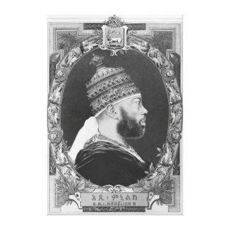 of Ethiopia, Menelik II Canvas Print