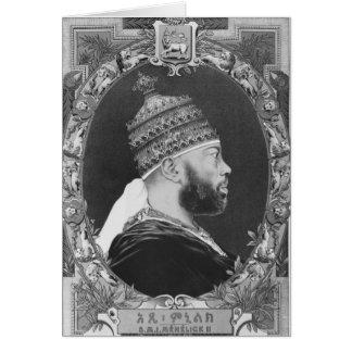 of Ethiopia, Menelik II Card