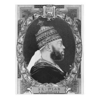 of Ethiopia, Menelik II Postcard