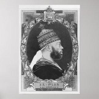 of Ethiopia, Menelik II Poster