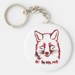 Of foxes and roses key chain