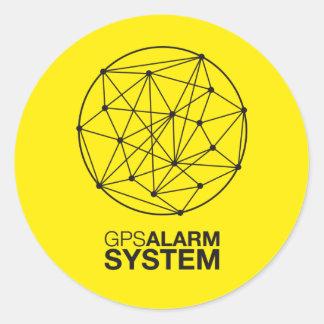 Of GPS alarm system Classic Round Sticker
