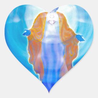 Of Jesus glad Christmas Heart Sticker