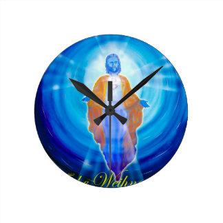 Of Jesus glad Christmas Round Clock