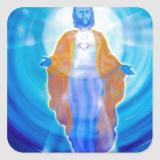 Of Jesus glad Christmas Square Sticker