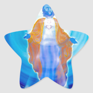 Of Jesus glad Christmas Star Sticker