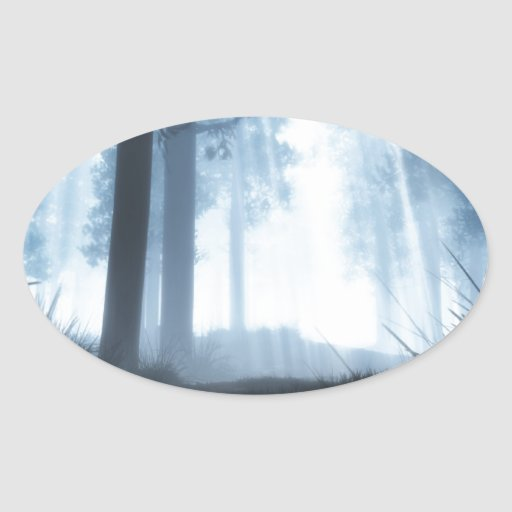 Of Light and Shadows Oval Sticker