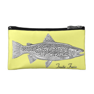 Of make-up small Fario Trout trusses Cosmetic Bag