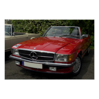 Of Mercedes Roadster Poster