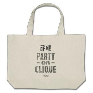 """Of No Party or Clique"" Tote Bag - Natural Tote Bag"