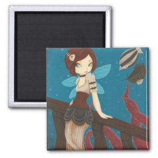 Of Sky - Steampunk fairy airship Magnet