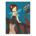 Of Sky - Steampunk fairy airship Postcards